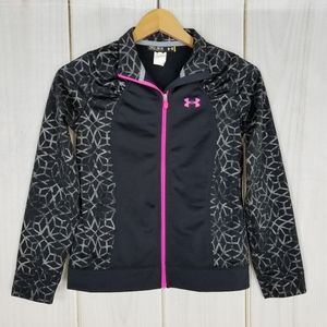Under Armour | Black Gray Mosaic Pink Zip Jacket